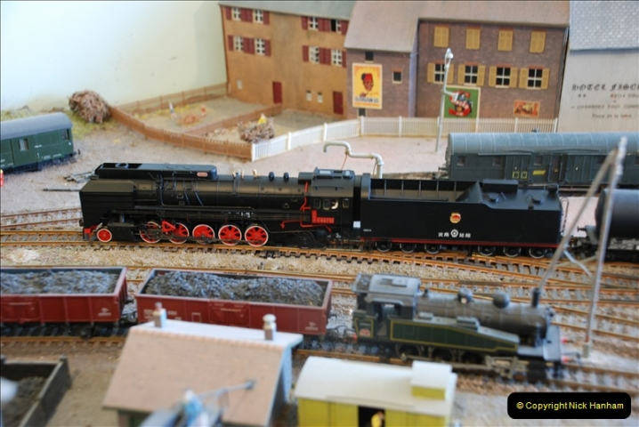 Some of your Host's model locomotives running on a friends railway.  (42)42