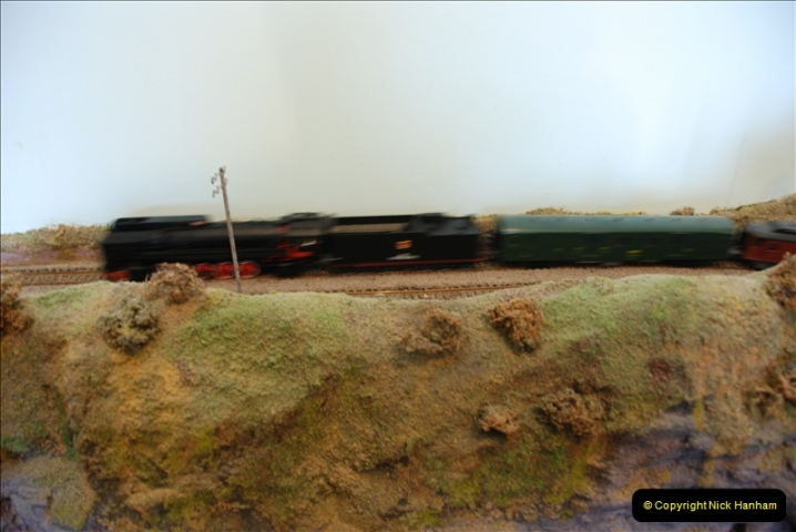 Some of your Host's model locomotives running on a friends railway.  (56)56
