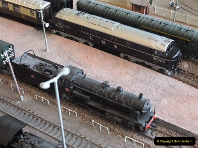 Some of your Host's model locomotives running on a friends railway.  (8)08