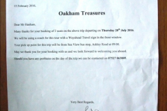Oakham Treasures 28 July 2016