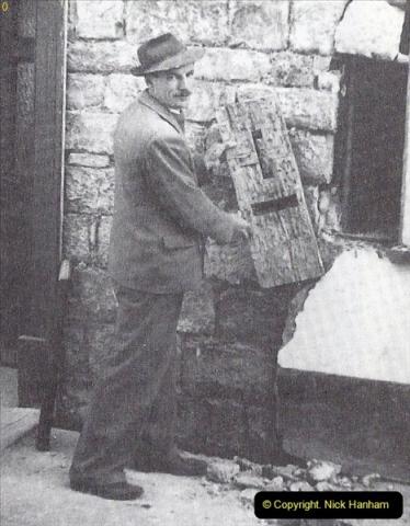 2015-06-25 Lyme Regis, Dorset. The old wooden post box at Lyme Regis discovered in building renovation work.  (3A)12