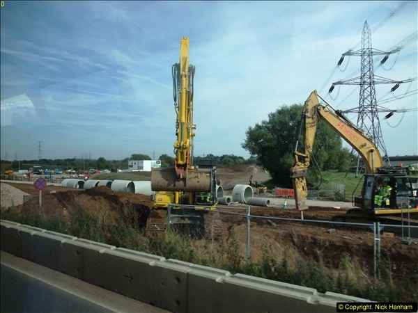 2013-09-27 Road works near Nottingham.  (2)199