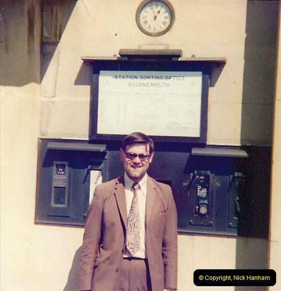 1978 The SSO (1) Your Host when a young Royal Mail manager outside the main  sorting office (SSO) Bournemouth. 1