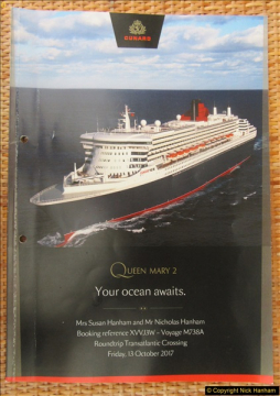 QM2 Across The Atlantic to New York 13 to 19 October 2017