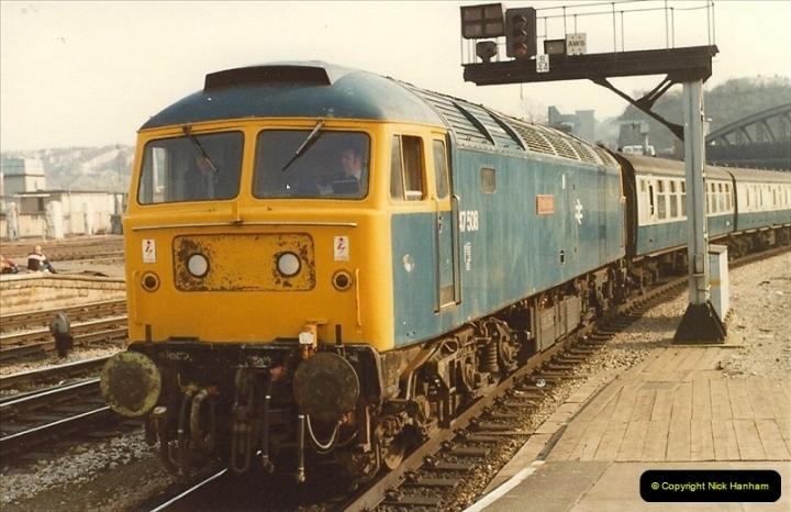 1982-03 26 to 27 Bristol Temple Meads, Bristol.  (17)0339