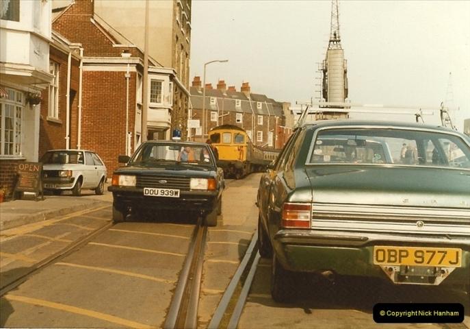 1983-09-22 The Channel Island Boat Train Weymouth Quay to Weymouth Station, Weymouth, Dorset.  (15)0560
