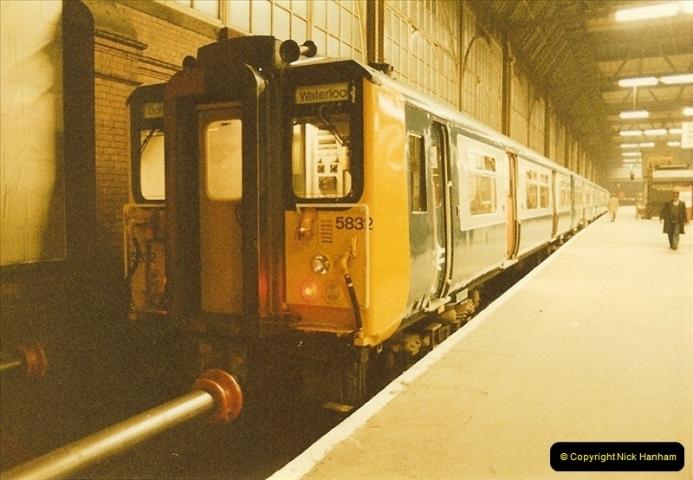 1984-03-17 Waterloo & City line & Waterloo station, London.  (4)0634