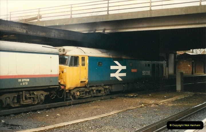 1988-03-29 Class 50 @ Bournemouth, Dorset.  (4)0579