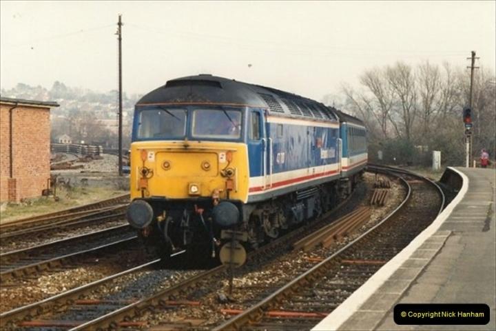 1992-02-29 Salisbury station, Salisbury, Wiltshire.  (13)310