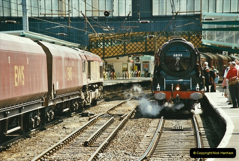 2003-06-14 Northampton-Crewe-Carlisle & Return. The Royal Scott & 6233 Dutchess of Southerland.  (26)146