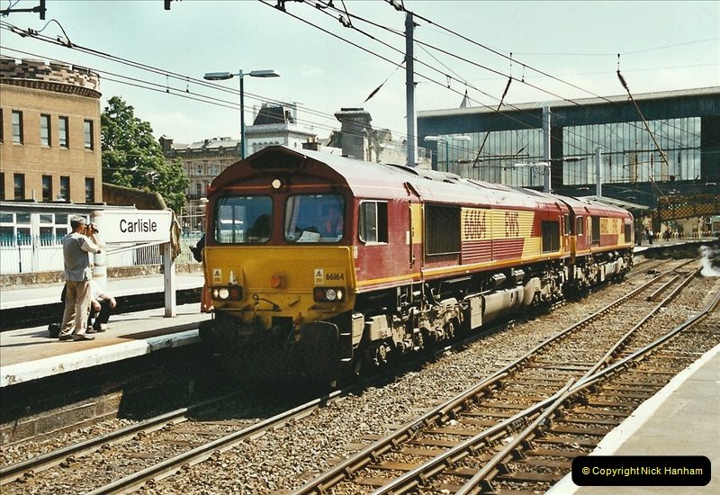 2003-06-14 Northampton-Crewe-Carlisle & Return. The Royal Scott & 6233 Dutchess of Southerland.  (28)148