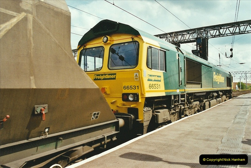 2003-06-14 Northampton-Crewe-Carlisle & Return. The Royal Scott & 6233 Dutchess of Southerland.  (63)183