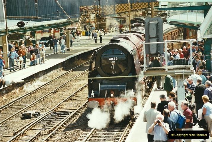 2003-06-14 Northampton-Crewe-Carlisle & Return. The Royal Scott & 6233 Dutchess of Southerland.  (24)144