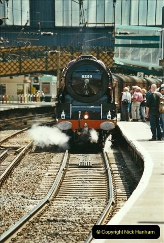 2003-06-14 Northampton-Crewe-Carlisle & Return. The Royal Scott & 6233 Dutchess of Southerland.  (30)150