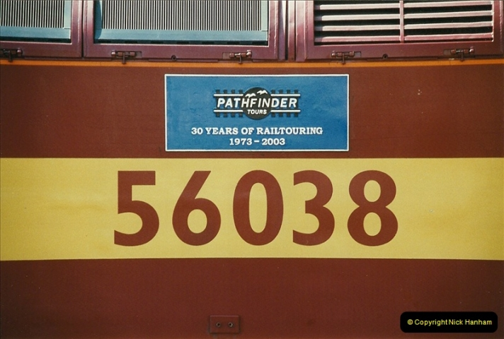 2003-06-14 Northampton-Crewe-Carlisle & Return. The Royal Scott & 6233 Dutchess of Southerland.  (34)154
