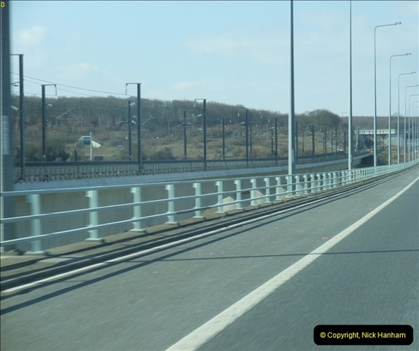 2013-04-06 The HS1 rail structure over the River Medway, Kent  (4)056