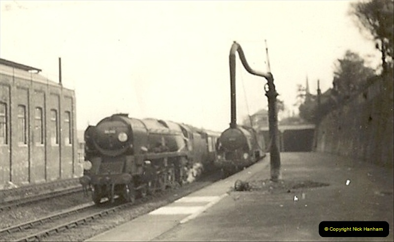 1955 to 1959 British Railways in Black & White. Local Bournemouth & Poole. (15)015