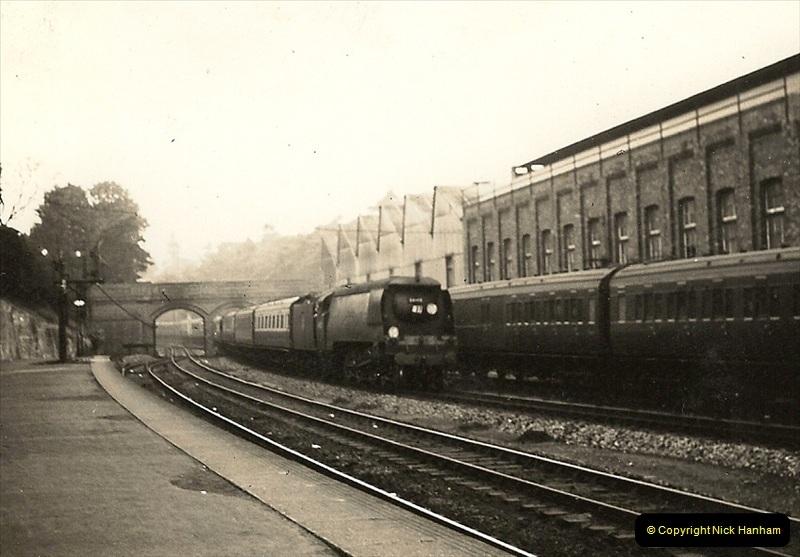 1955 to 1959 British Railways in Black & White. Local Bournemouth & Poole. (10)010