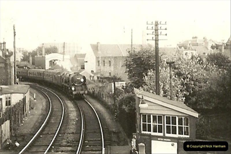 1955 to 1959 British Railways in Black & White. Local Bournemouth & Poole. (2)002