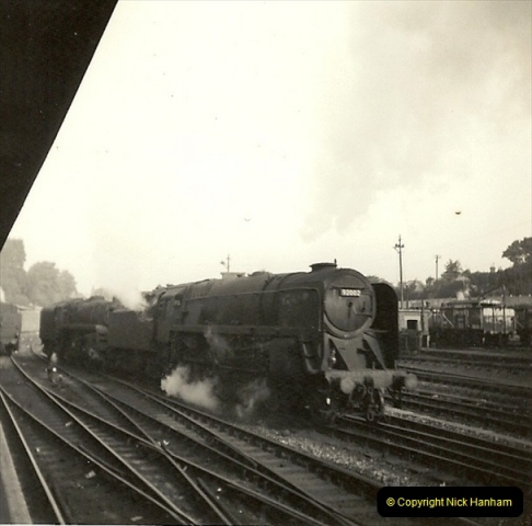 1955 to 1959 British Railways in Black & White. Local Bournemouth & Poole. (26)026