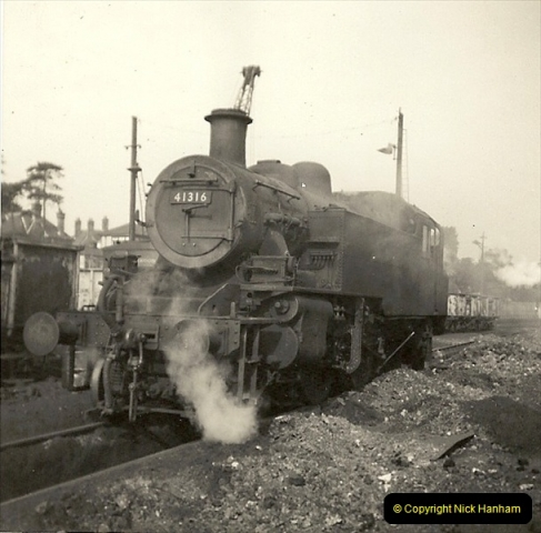 1955 to 1959 British Railways in Black & White. Local Bournemouth & Poole. (29)029