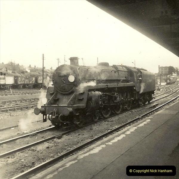 1955 to 1959 British Railways in Black & White. Local Bournemouth & Poole. (34)034
