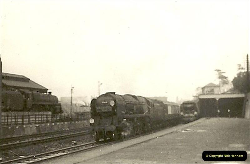 1955 to 1959 British Railways in Black & White. Local Bournemouth & Poole. (4)004