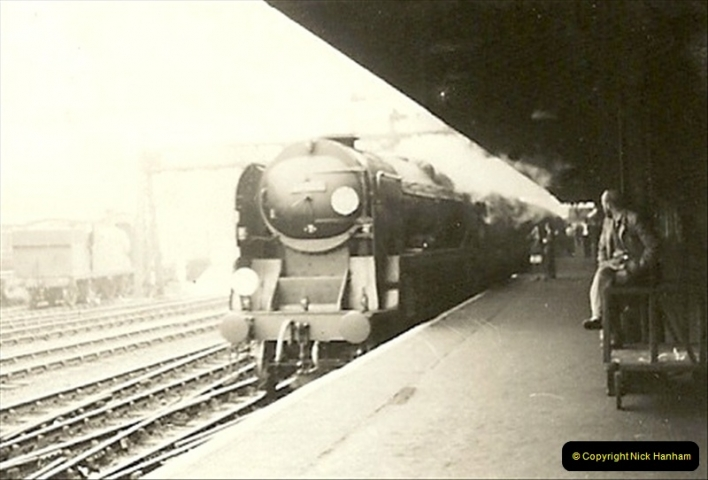 1955 to 1959 British Railways in Black & White. Local Bournemouth & Poole. (5)005