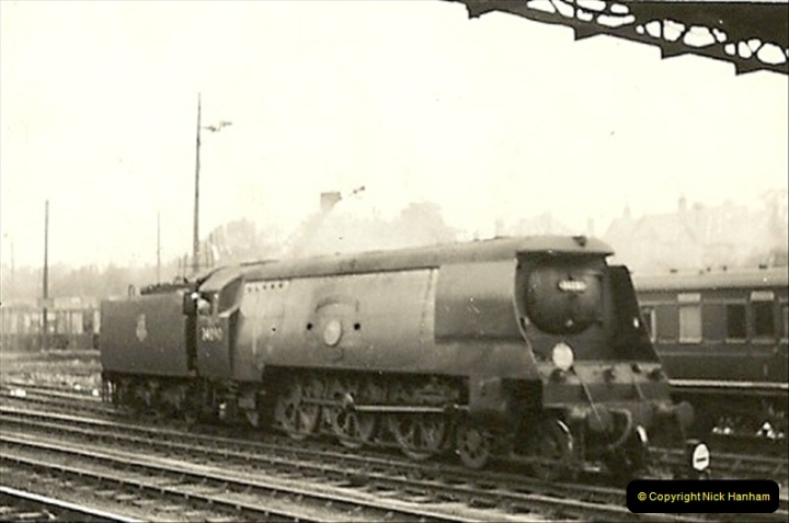 1955 to 1959 British Railways in Black & White. Local Bournemouth & Poole. (6)006