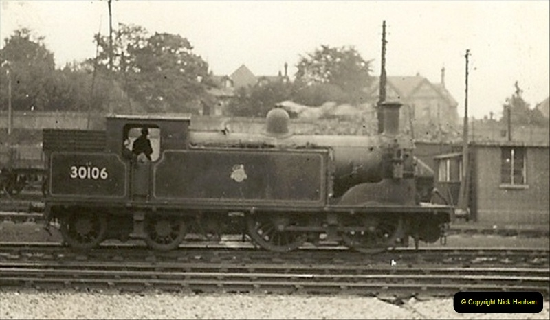 1955 to 1959 British Railways in Black & White. Local Bournemouth & Poole. (7)007