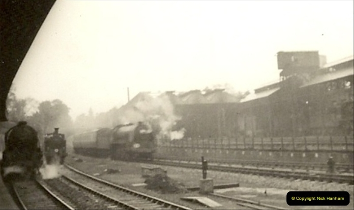 1955 to 1959 British Railways in Black & White. Local Bournemouth & Poole. (9)009