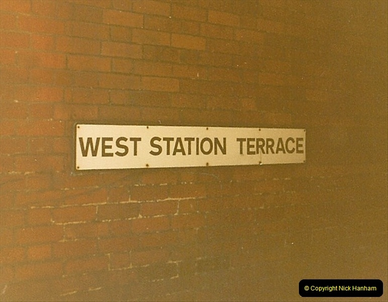 1980 Summer. All that remains of Bournemouth West Station.  (1)119