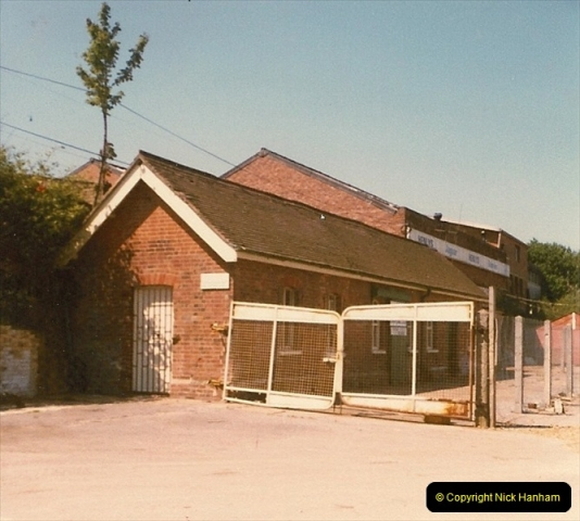 1980 Summer. All that remains of Bournemouth West Station.  (2)120
