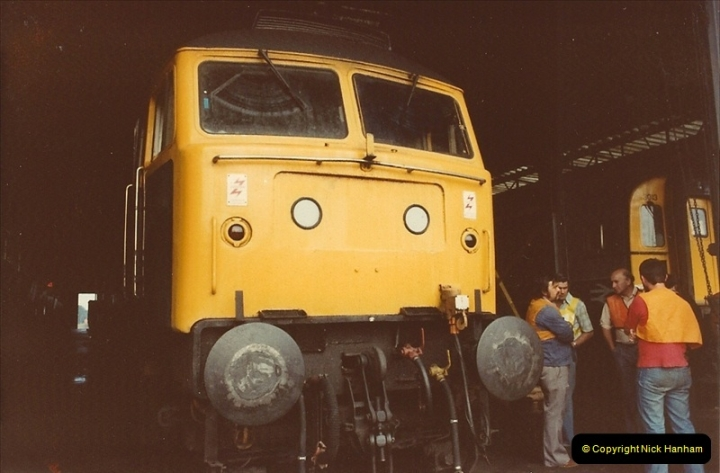 1982-06-08 Bournemouth Depot Visit by SR Volunteers.  (1)155