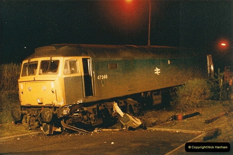 1985-12-11 47246 runs away from Bournemouth Depot. (6)305