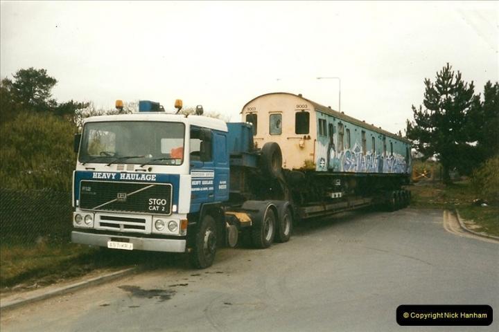 2000-03-16 Bournemouth Depot carriage movement.  (3)262