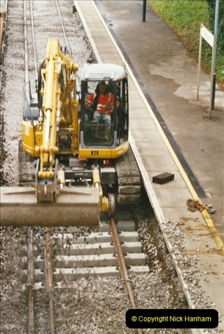 2004-09-12 Renewal of the up line @ Parkstone, Poole, Dorset.  (8)635