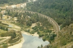 1979 Summer. Viaduct de Grabit, Southern France.  (1)024