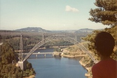 1979 Summer. Viaduct de Grabit, Southern France.  (2)025