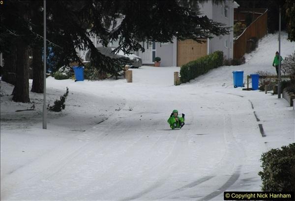 2018-03-02 Snow in Parkstone, Poole, Dorset.  (34)045