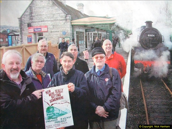 2016-02-14 SR Volunteer 40 years at Swanage Station. (2)075