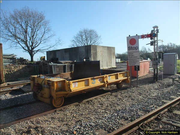 2016-02-15 SR Engineering work on the new section for the Wareham link.  (13)089