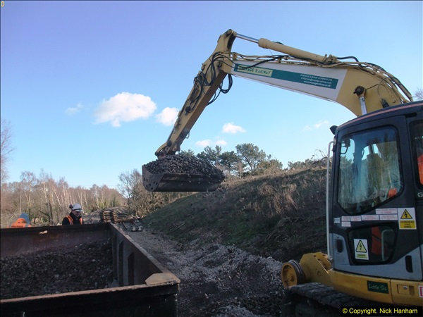 2016-02-15 SR Engineering work on the new section for the Wareham link.  (131)207