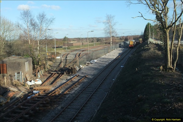 2016-02-15 SR Engineering work on the new section for the Wareham link.  (136)212