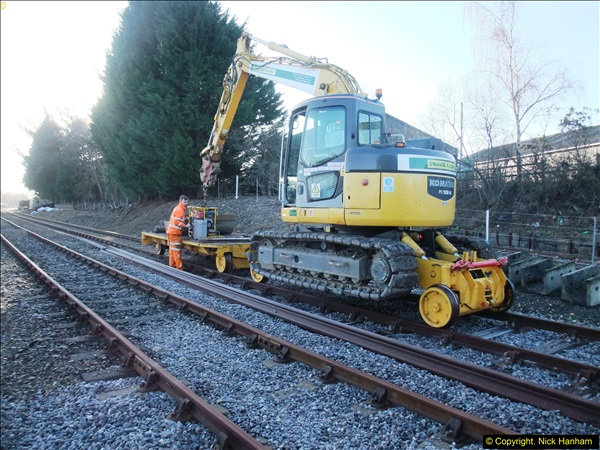 2016-02-15 SR Engineering work on the new section for the Wareham link.  (3)079