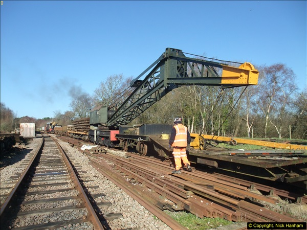 2016-02-15 SR Engineering work on the new section for the Wareham link.  (37)113