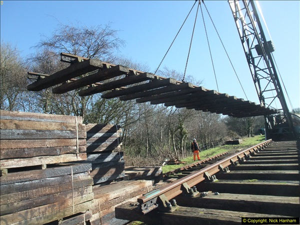 2016-02-15 SR Engineering work on the new section for the Wareham link.  (43)119