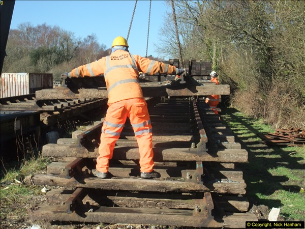 2016-02-15 SR Engineering work on the new section for the Wareham link.  (48)124