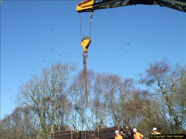 2016-02-15 SR Engineering work on the new section for the Wareham link.  (55)131