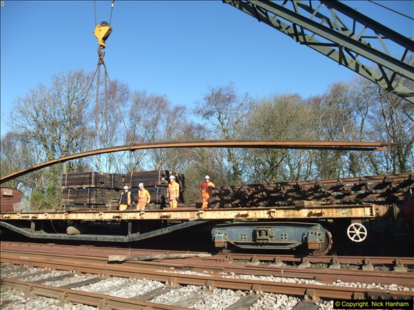 2016-02-15 SR Engineering work on the new section for the Wareham link.  (56)132